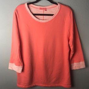 Fresh produce lightweight sweatshirt coral 3/4 L